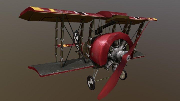 Fokker D.II Stylized Plane 3D Model