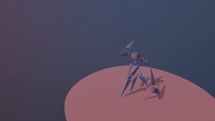 Bird Monster 3D Model