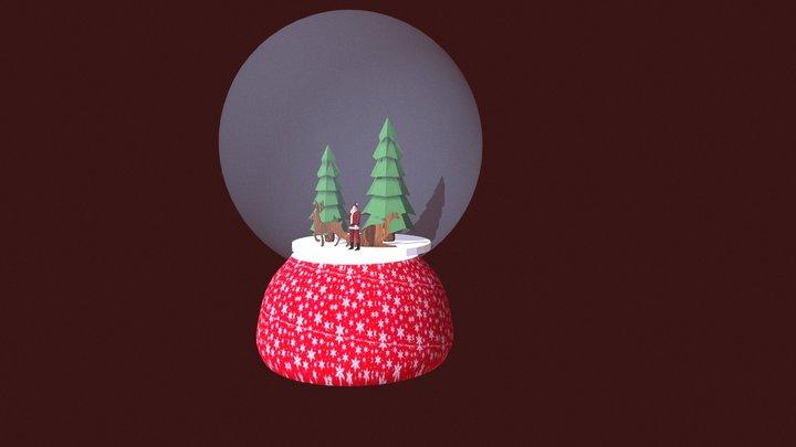 Palla Di Vetro Santa Klaus 2 3D Model