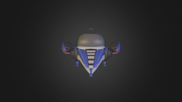 Futuristic Vehicle 3D Model
