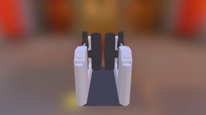 Underground Ticket Barrier 3D Model