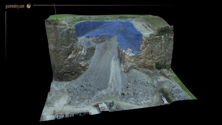 VOLUMETRIE CARRIERE DE SOUS-VENT 3D Model