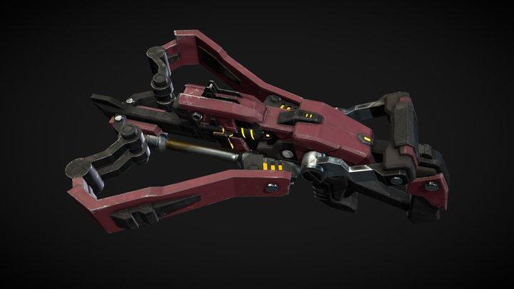 Sci-Fi Crossbow 3D Model