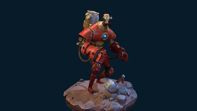 Steampunk Ironman 3D Model