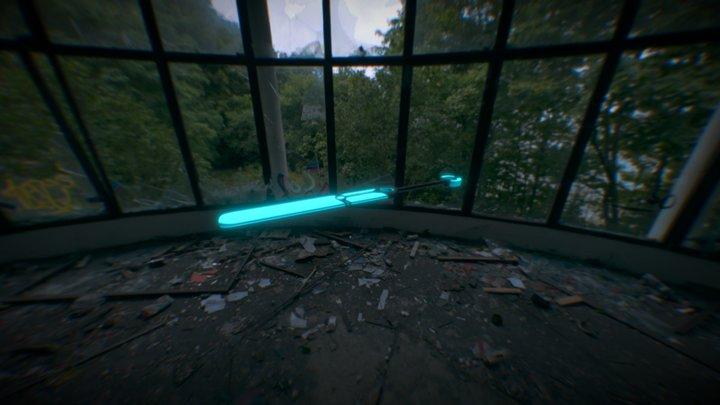 Ekko's Glowstick Bat 3D Model