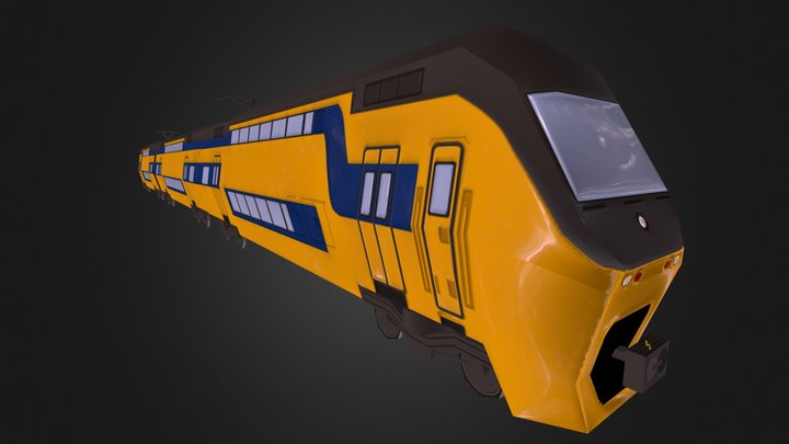 Doubledecker train 3D Model