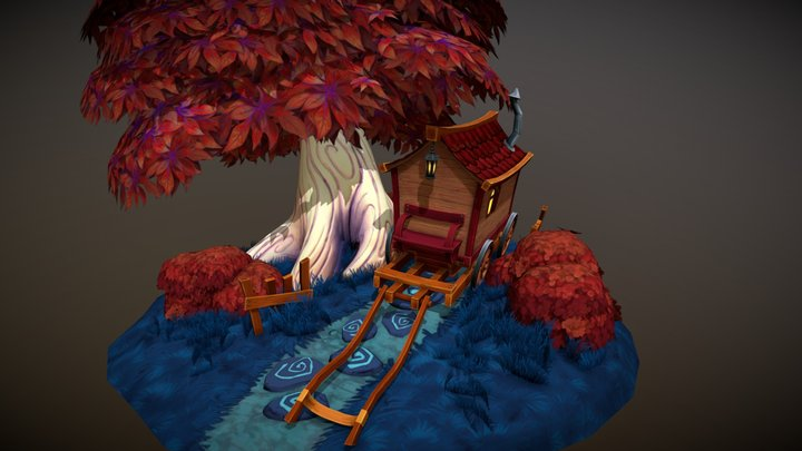 Little Carriage 3D Model