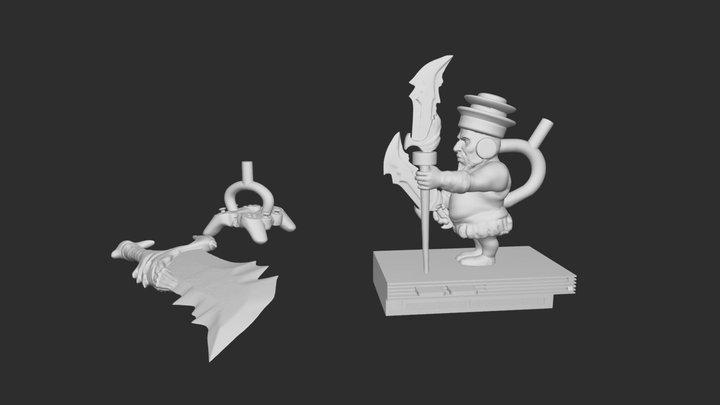 Dios de la Guerra, 2020 n.e. 3D Model