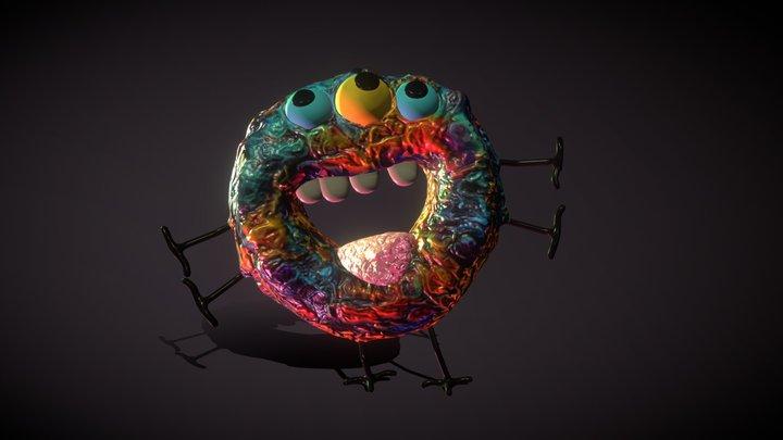 Donut Monster for Blender Guru 3D Model