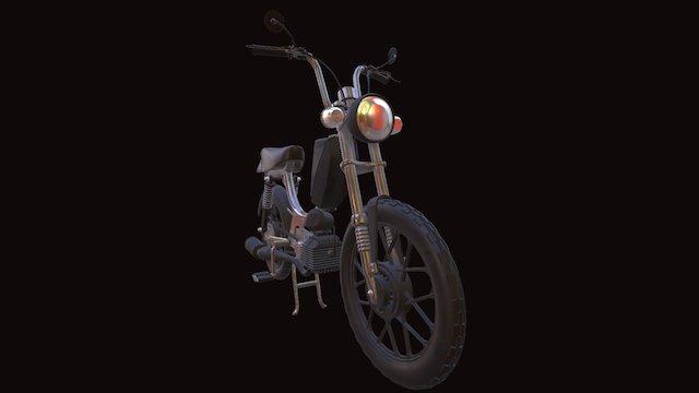 Black mean spirit moped 3D Model