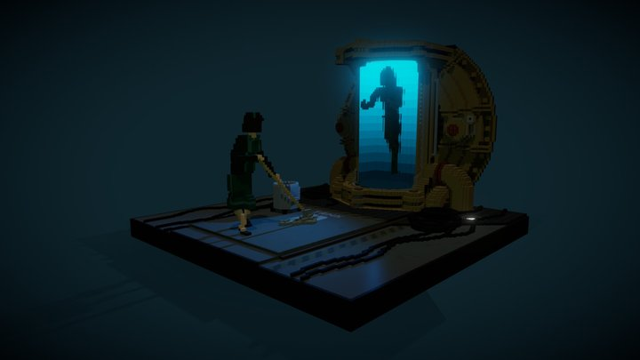 Shape Of Water: Dance with the Creature 3D Model