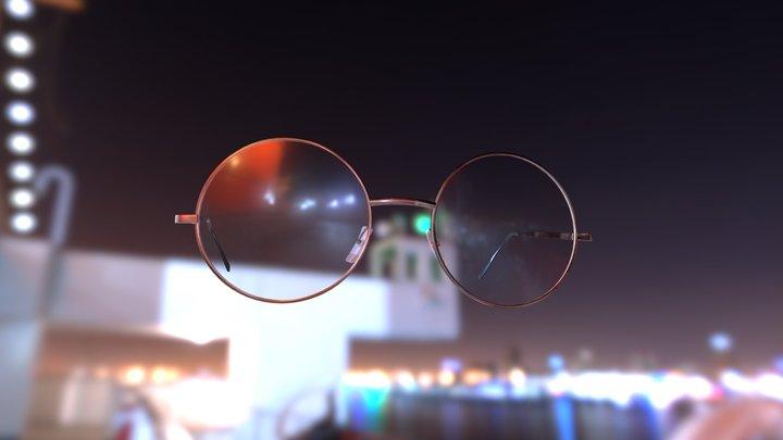 Round glasses. 3D Model