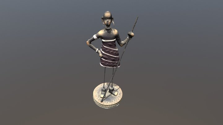 Guerreiro Africano 3D Model