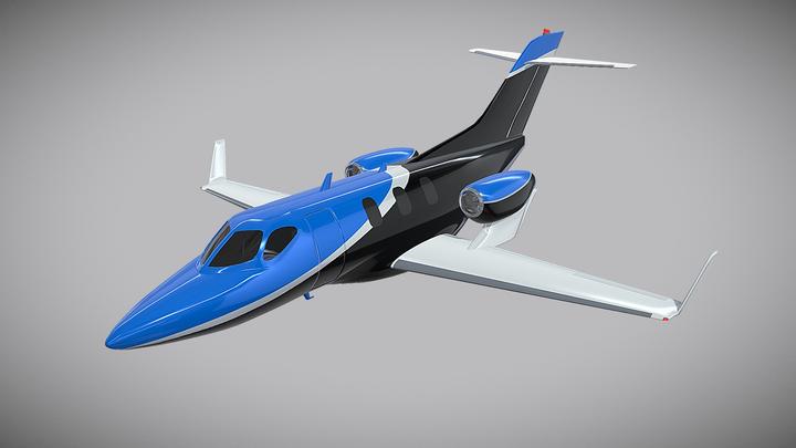Honda Private Jet 3D Model