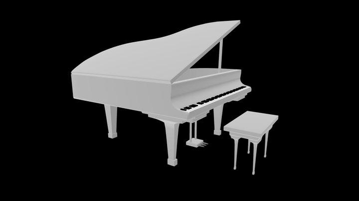 Classic Piano 3D Model