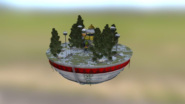 Templo Kamisama 3D Model