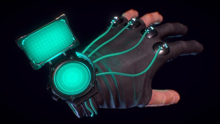 Cortex Hand - for VR 3D Model