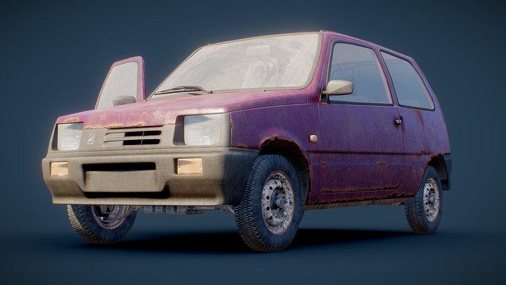 Old Hatchback 3D Model