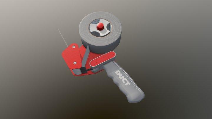 Tape Dispenser (Low poly) 3D Model