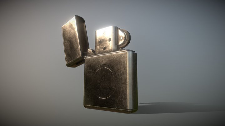 Zippo Lighter - 60s Style, Vietnam War Era 3D Model