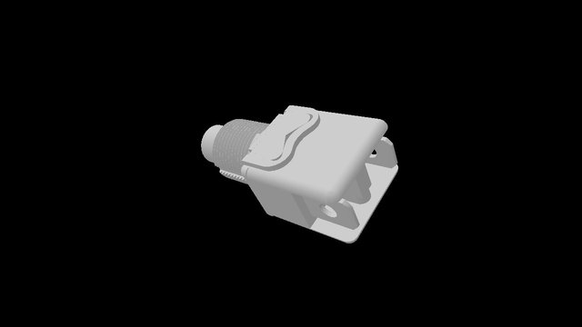 Green NO panel mount pushbutton switch 3D Model