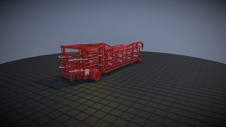 Portable Cattle Corral - 1/64 Scale VisiJet