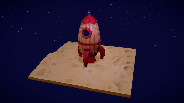 Fly me to moon 3D Model