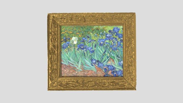 Van Gogh's Irises in Art Nouveau Frame 3D Model