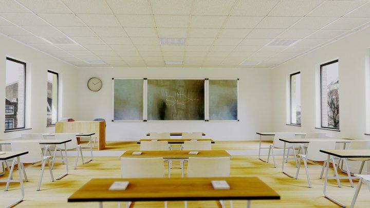 VR Classroom Baked + 3d Max 3D Model