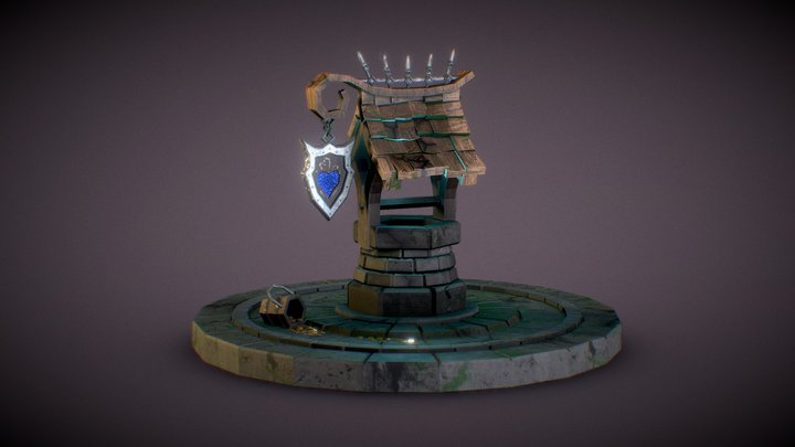 Stylized Well 3D Model