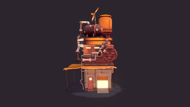 Motor Garage 3D Model