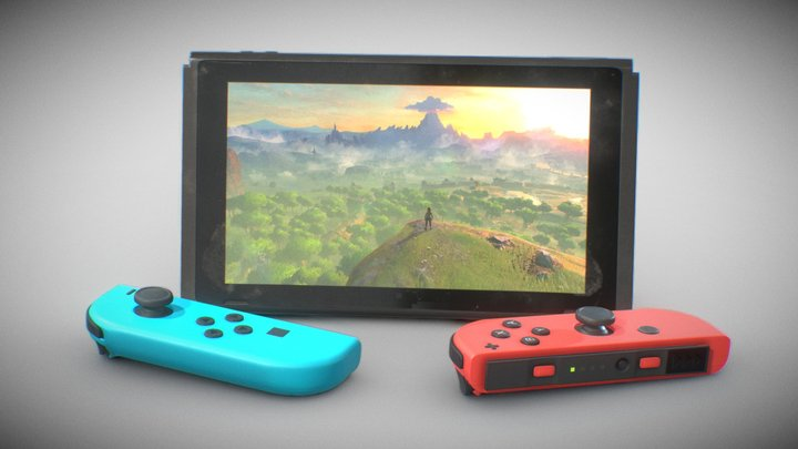 Worn Nintendo Switch (Low Quality Available) 3D Model