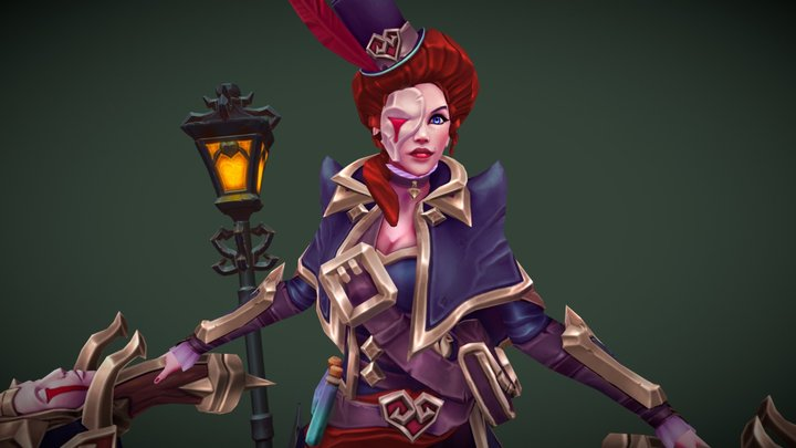 Plague Hunter Miss Fortune 3D Model