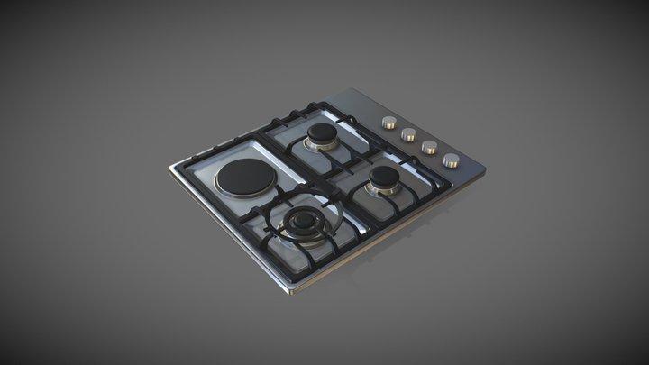 Stove Top Burner 3D Model