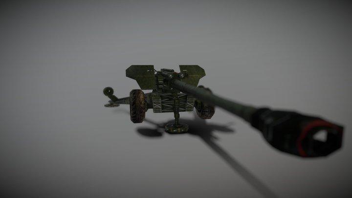 152 mm howitzer 2A65 Msta-B (2A65) 3D Model