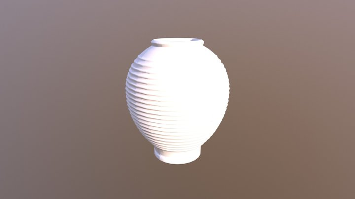Greek flower vase 3D Model
