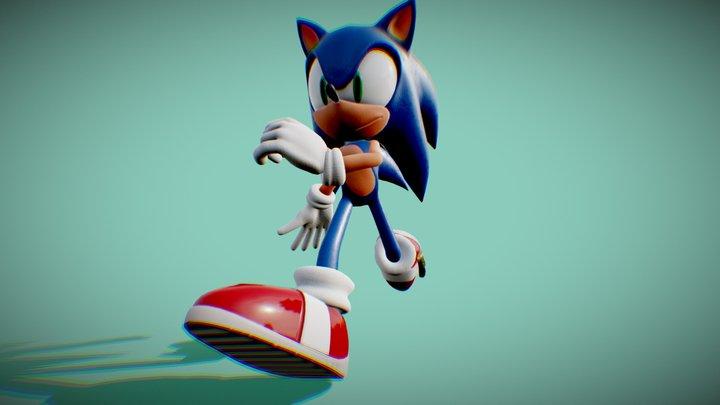 Sonic Running test 3D Model