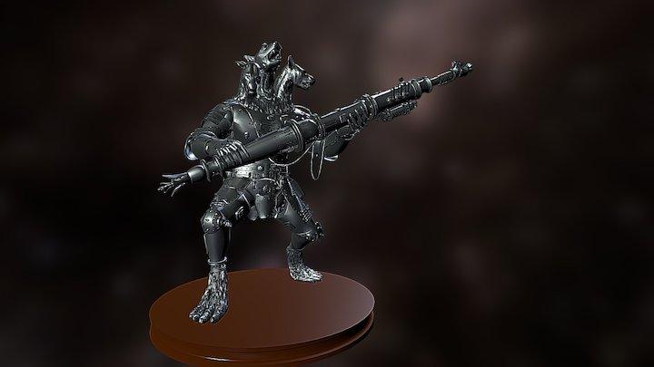 Steampunk Kerberos 3D Model