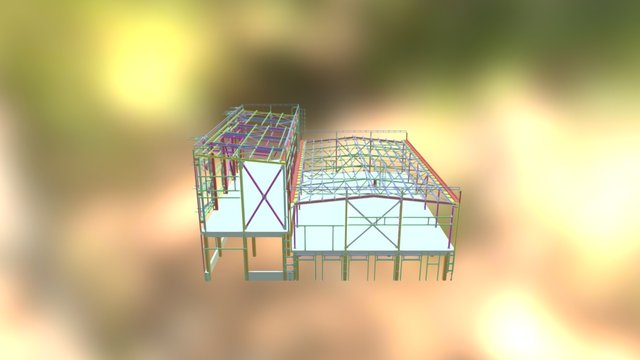 part of the oil plant 3D Model