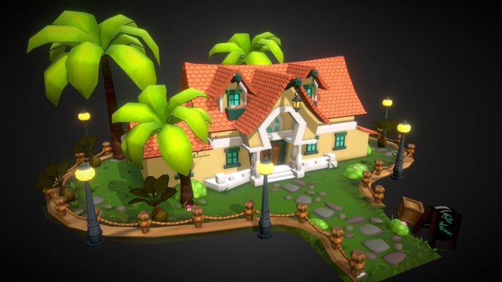House game environment 3D Model