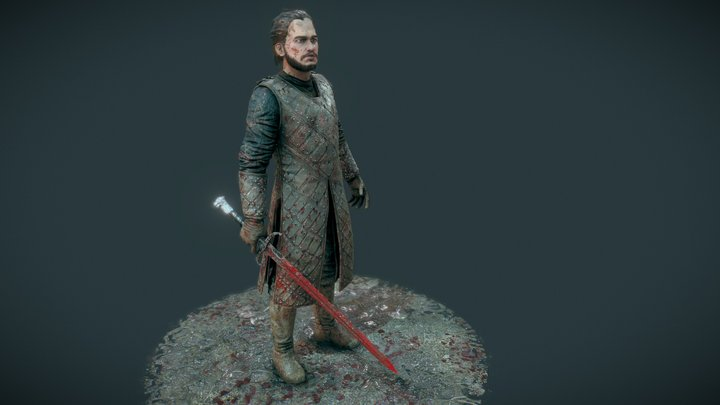 Jon Snow Fanart 3D Model