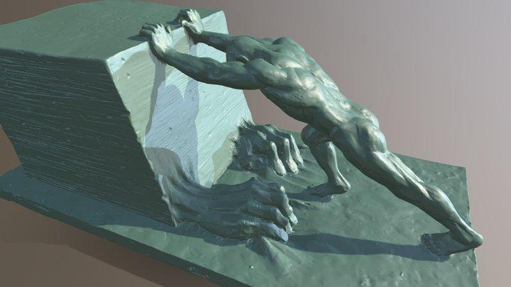 The Struggler 3D Model