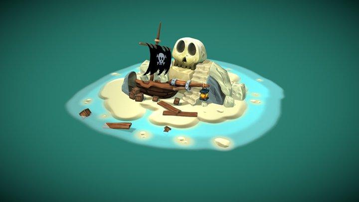 Pirate Scene 3D Model