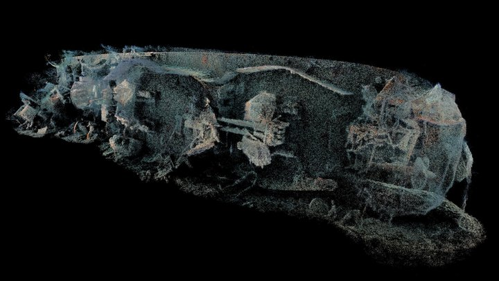 stern of the wreck 3D Model