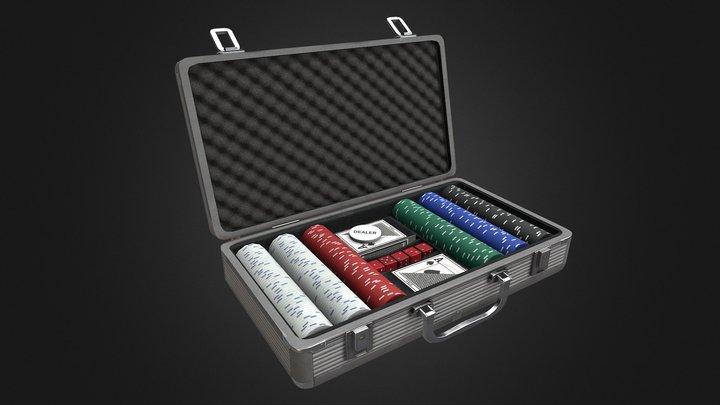 Poker set 3D Model