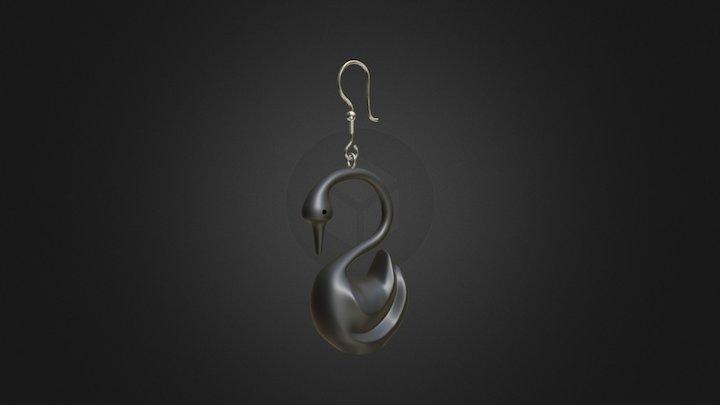 Swan Earring 3D Model