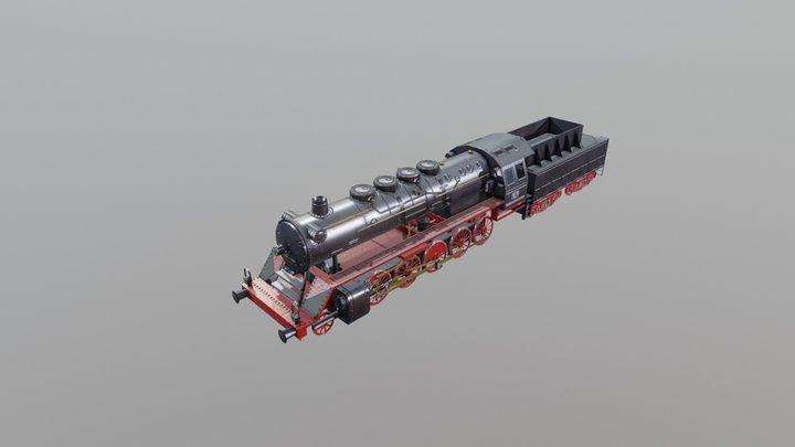 Steam locomotive DRB Baureihe 50 3D Model