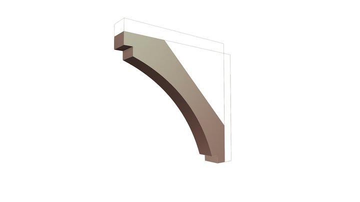 Wood Brace 67T8 22 x 22 3D Model