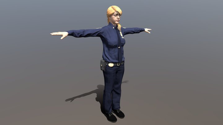 Female Police Officer (PC/Console) 3D Model