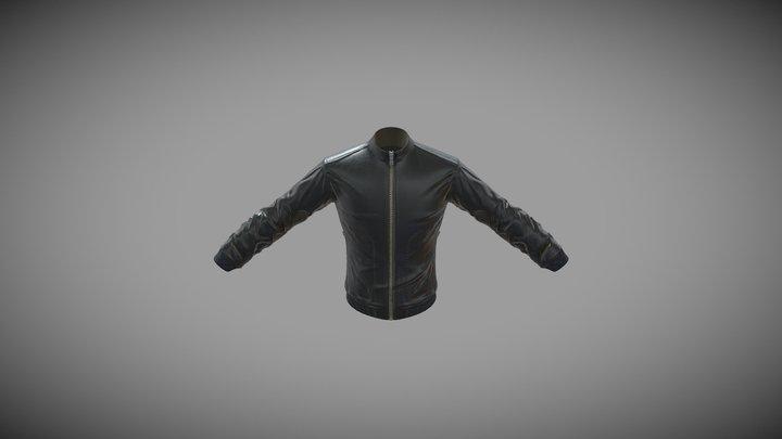 Men's Faux Leather Bomb Jacket 3D Model